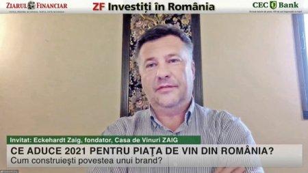 ZF Investiti in Romania! Eckehardt Zaig, fondator, Casa de Vinuri ZAIG: Vrem sa dezvoltam partea de turism vitivinicol