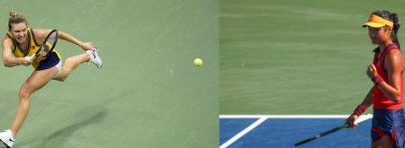 Simona Halep si Emma Raducanu joaca azi la Indian Wells