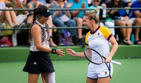 Simona Halep si Gabriela Ruse sunt calificate in turul secund in <span style='background:#EDF514'>PROBA D</span>e dublu la Indian Wells