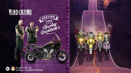 5 <span style='background:#EDF514'>MOTOC</span>iclete Harley Davidson in noua campanie Vlad Cazino