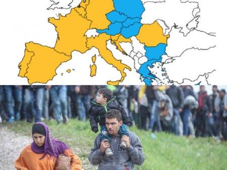 Criza migrantilor seprara UE in doua tabere.12 tarile cer construirea de ziduri / Romania, exceptia din regiune