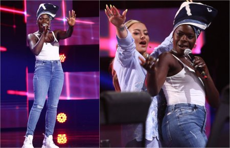 X Factor 2021, 8 octombrie. Oma Jali a cantat Shy Guy, s-a urcat pe masa <span style='background:#EDF514'>JURIU</span>lui si a facut show: Mi-a adus aminte de Naomi