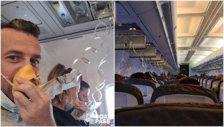 Un avion <span style='background:#EDF514'>BLUE</span> Air care venea din Praga s-a depresurizat inainte de aterizarea la Bucuresti