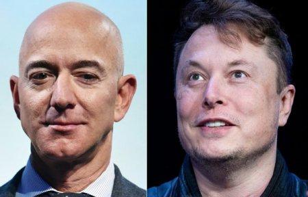 Jeff Bezos si <span style='background:#EDF514'>ELON MUSK</span>, unii dintre cei 156 de miliardari inclusi in Forbes 400 care si-au donat mai putin de 1% din avere