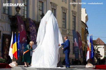 Barbatul care a aruncat cu vopsea spre statuia b<span style='background:#EDF514'>ARON</span>ului Brukenthal a fost prins