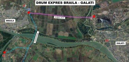 Au inceput lucrarile la drumul expres Braila-Galati. Va avea trei poduri, doua viaducte si un pasaj