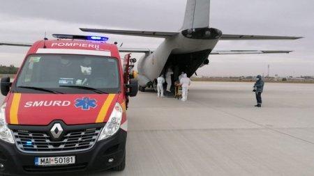 O aeronava din Ialia a adus la Bucuresti 5.200 de doze de anticorpi monoclonali, parte din schema de tratament impotriva COVID-19