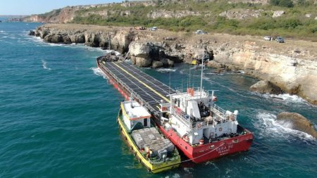 Pericol de dezastru ecologic in Marea Neagra. Un <span style='background:#EDF514'>CARGO</span>u incarcat cu mii de tone de ingrasamant chimic s-a scufundat