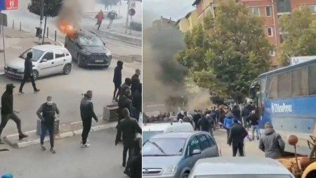 Incidente grave in Kosovo, intre politie si etnicii sarbi. <span style='background:#EDF514'>PRESA DE</span> la Belgrad vorbeste de zeci de raniti, seful diplomatiei UE cere incetarea imediata a violentelor