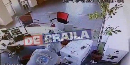 Jaf la o banca din Braila. Un tanar, cautat de politisti, dupa ce a furat cateva mii de euro si a fugit