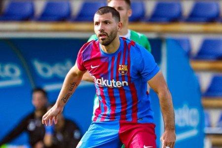 Vezi AICI primul gol marcat de Aguero la Barcelona: Luuk de Jong ar fi ratat de acolo