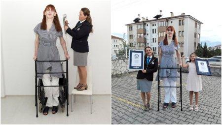 FOTO Cum arata cea mai <span style='background:#EDF514'>INALTA</span> femeie din lume. Aceasta are doar 24 de ani