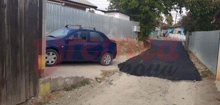 Caz aiuritor la Husi. Autoritatile au asfaltat o strada doar pe 25 de metri ca sa scape de reclamatiile unui lo<span style='background:#EDF514'>CALNIC</span>