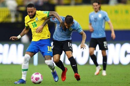 Brazilia, victorie la scor in derby-ul cu Uruguay! Cu Messi integralist, Argentina a tre<span style='background:#EDF514'>MURAT</span> in fata peruanilor