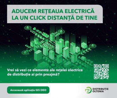 Digitalizare marca Distributie Oltenia accesibila tuturor – harta GIS a retelei electrice de distributie din Oltenia este la doar un <span style='background:#EDF514'>CLIC</span>k distanta!