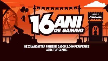 PC Garage sarbatoreste 16 ani de gaming, oferind cadou 2.000 de periferice ASUS