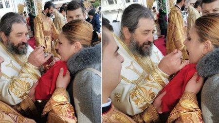 Diana Șosoaca, circ la pelerinajul de la Iasi: Unicul politician care s-a impartasit la Sf. Paraschiva din aceeasi lingurita