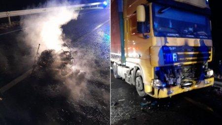 Motociclist carbonizat intr-un cumplit accident pe centura Carei, in <span style='background:#EDF514'>SATU MARE</span>