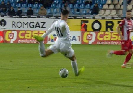 Ronaldo Deaconu, goluri exceptionale in Gaz Metan - Dinamo: Exact ca Gica Hagi