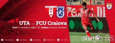 UTA - U Craiova 1948 (17:30). Debutul lui Stoican