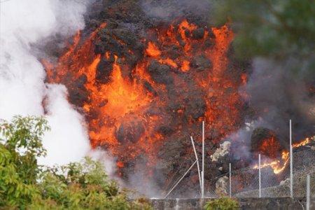 Vulcanul de pe insula spaniola La Palma continua sa erupa