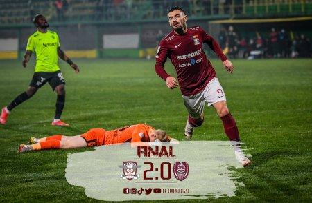 Rapid - CFR Cluj 2-0. Liderul pierde puncte importante