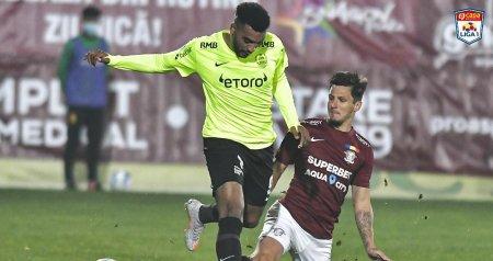 Liga 1: Rapid - CFR Cluj 2-0. Adrian Balan a marcat ambele goluri ale meciului (Video)