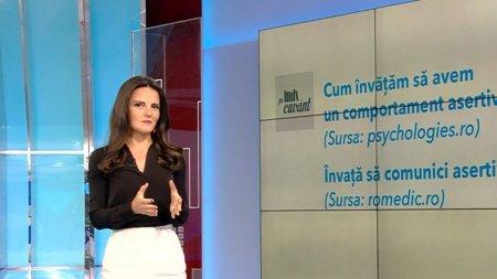 Asertiv, se foloseste in romana actuala cu un sens nou d<span style='background:#EDF514'>IN ENGLEZA</span>. Pe cuvant, cu Ana Iorga