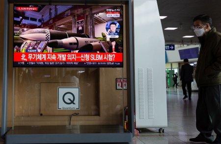 Coreea de Nord a lansat cel putin o racheta balistica in largul coastei estice, anunta oficiali de la Seul si Tokyo