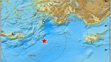 <span style='background:#EDF514'>INSULA</span> greaca Karpathos, zguduita de un cutremur cu magnitudinea 6.1