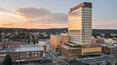 Zgarie-nori de 20 de etaje construit din lemn, in Suedia. Cum arata structura inovativa