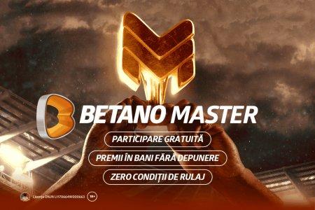 Premii saptamanale de 175.000 de lei la Betano Master! Plaseaza-ti gratuit pronosticurile si intra in cursa pentru Bonusuri fara rulaj