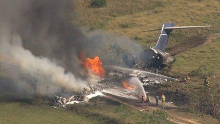 Toti pasagerii acestui avion in flacari au scapat cu viata. Soarta lor a fost hotarata intr-o fractiune de secunda