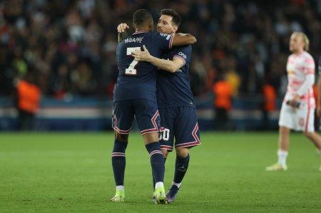 PSG - Leipzig 3-2. Dubla Messi, penalty ratat de Mbappe