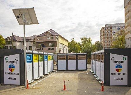 La Galati, containere de gunoi cu camere de supraveghere video pentru prevenirea distrugerilor si furturilor