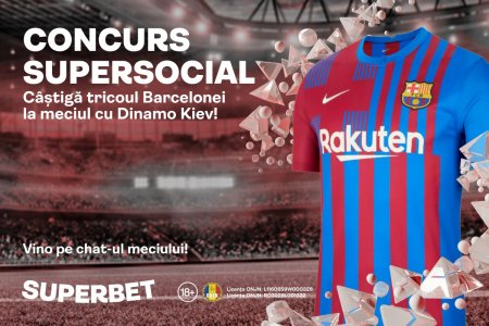 Prinde cea mai tare cota la Barcelona - Dinamo Kiev si castiga tricoul catalanilor! Vino pe chat-ul meciului din SuperSocial!
