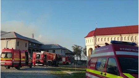 Incendiu la o mana<span style='background:#EDF514'>STIR</span>e din Constanta. Zeci de pompieri lupta cu flacarile ridicate spre cer