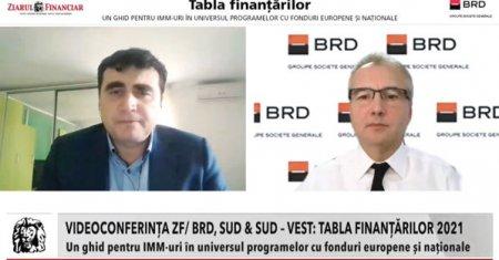 Videoconferinta ZF/BRD Sud & Sud-Vest. Tabla finantarilor 2021. Antreprenorii  vor reusi sa atraga <span style='background:#EDF514'>FONDURI EUROPENE</span> si sa evalueze corect oportunitatile de finantare daca businessul pe care il conduc este bine administrat