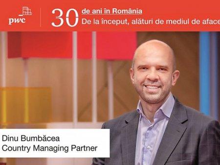Dinu Bumbacea, Country managing partner, PWC Romania: Intre incertitudinea prezentului si promisiunea viitorului. Ce ii preocupa pe <span style='background:#EDF514'>LIDERI</span>i de afaceri