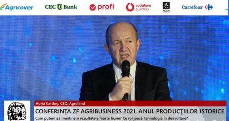 ZF Agribusiness 2021. Anul productiilor istorice  Horia Cardos, CEO, Agroland: Pentru 2022, vom avea cel mai mare pret la alimente la nivel global, cel mai mare pret la fertilizanti si, probabil, cel mai mare deficit din punct de vedere al <span style='background:#EDF514'>BALANTE</span>i cerealelor la nivel global
