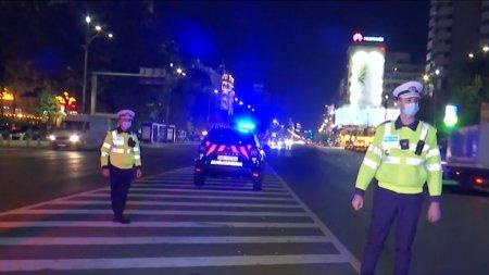 Politistii au inceput controalele de noapte in <span style='background:#EDF514'>CAPITALA</span> pentru cei care nu respecta restrictiile