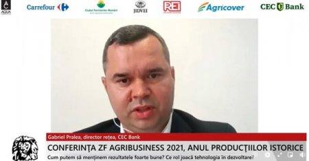 ZF Agribusiness 2021. Anul productiilor istorice.  Gabriel Pralea, <span style='background:#EDF514'>DIRECTOR</span> Retea, CEC Bank: Desi avem o productivitate mult sub media europeana, avem, in acelasi timp, una dintre cele mai bune dinamici din punct de vedere al productivitatii