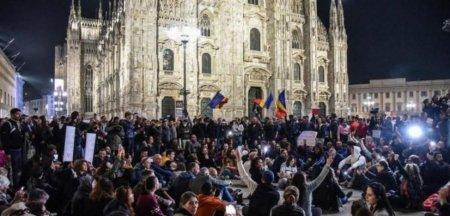 Ambasadorul Romaniei in Italia le bate obrazul romanilor care au participat la manifestatiile anti-Certificat verde din Pen<span style='background:#EDF514'>INSULA</span>