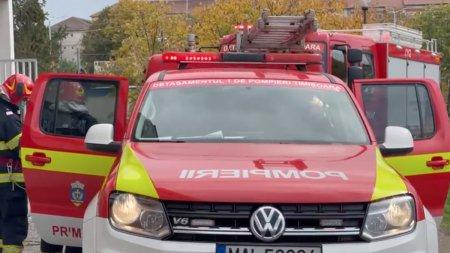 Alarma de incendiu la Spitalul Judetean din Timisoara. Zeci de pompieri se afla la fata locului