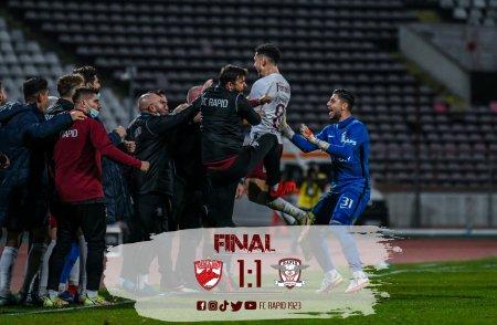 Dinamo - Rapid 1-1. Doua super goluri in Stefan cel Mare
