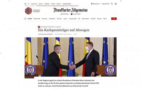 Frankfurter Allgemeine Zeitung citeaza jurnalistii Libertatea despre Romania: Riscul ca banii europeni sa genereze nu integritate si prosperitate, ci mai multa coruptie si incompetenta