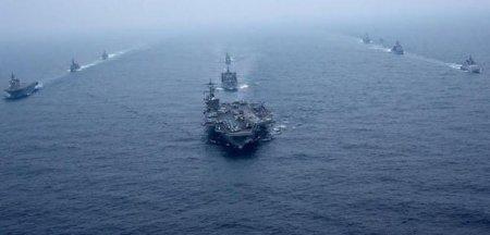 Nave de razboi <span style='background:#EDF514'>RUSE</span> si chineze au participat la primele lor patrule mixte in vestul Pacificului