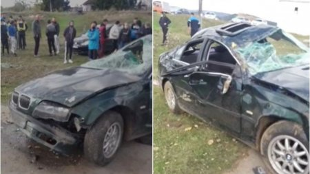 Un adolescent de 16 ani din Arges a murit, dupa ce masina in care era s-a rasturnat si a revenit apoi pe roti