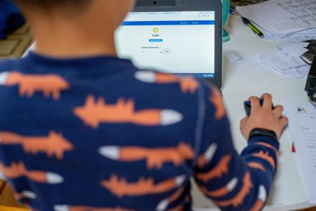Parintii care stau acasa cu copiii care invata online nu primesc bani de la stat pe perioada vacantei