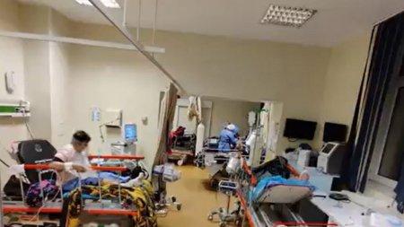 Imaginile dezastrului din spitale. Pacienti fara loc la Terapie Intensiva